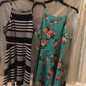 Two cute fun summer dresses that are lightweight